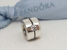 Authentic Pandora Silver Sirius Charm with Clear / White CZs  790172CZ
