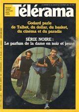 telerama n°1776 francis cabrel james stewart godart  giorgio strehler 1984