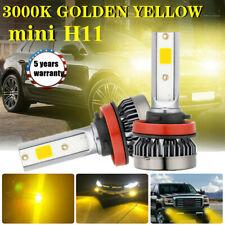 H11 H8 H9 2200W 380000LM LED Headlight Bulbs Kit 3000K Yellow Fog Driving Light
