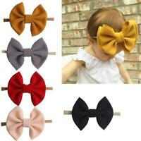 Baby Girls Delicate Bow Knot Headband Nylon Hairband Stretch Hair Accessories