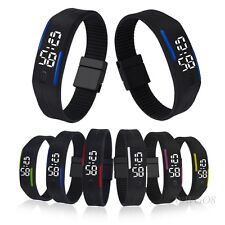 Digital LED Mens Womens Fashion Watch Rubber Date Sports Bracelet Wrist Watches