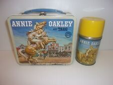 1955 Annie Oakley And Tagg Metal Lunch Box & Thermos.
