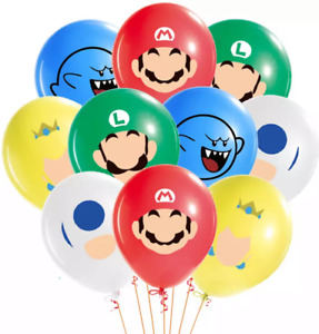 "12"" Super Mario balloons latex children's character birthday party"