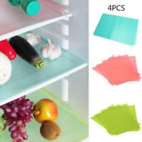 4x Refrigerator Fridge Mat Pad Drawer Liners Washable Kitchen Waterproof MUN