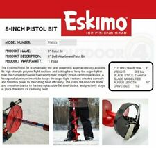 "35600 Eskimo 8"" Pistol Bit 1/2"" Drill Chuck Ice Fishing Auger Bit Year Warranty"