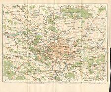 1927  VINTAGE MAP-PARIS-ENVIRONS OF PARIS