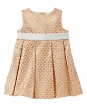 NWT Gymboree Savanna Party Jacquard Gold Dress 18 24