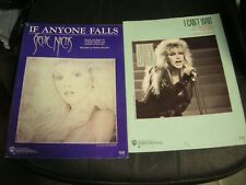 2 STEVIE NICKS Sheets -If Anyone Falls (1983),  I Can't Wait (1986)