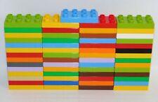 LEGO DUPLO 57pc Lot 2x4x1 Flat Thin Plate Brick Blocks Assorted Colors