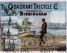 Quadrant 1910s motorcycle tricycle  ca 8 x 10 print prent poster