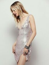 Free People Sexy in Sequins Slip Dress Rose Gold Size Medium