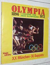 ALBUM QUASI VIERGE PANINI JEUNESSE-COLLECTIONS OLYMPIA 1896-1972