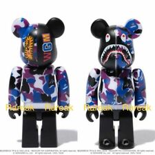 Medicom Be@rbrick 2018 a Bathing Ape 100% 12th esclusivo Bape Viola BEARBRICK