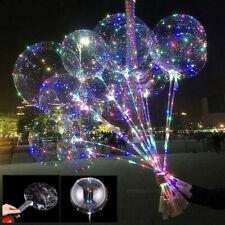 10/20x 20'' LED Ballon Leucht Helium Luftballon Geburtstag Hochzeit Weihnachten