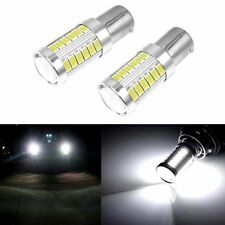 2x BAY15D 1157 White Car Tail Stop Brake LED Light Super Bright 33SMD Bulbs 12V