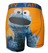 SESAME STREET COOKIE MONSTER FUNNY BOXER SHORTS/UNDERWEAR SIZE SMALL RRP £12
