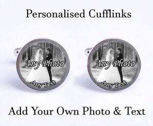 logo image Cufflinks personalised with photo X2BESPOKE great gift.