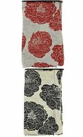 Luxury Heavy Floral Chenille Cushion Cover Pillow Case Home Sofa Black Red