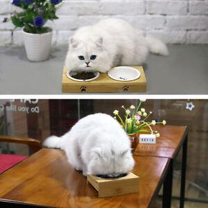 Pet Feeding Bowl Set Dog Cat Dish Water Bowl Puppy Food Feeder Dispenser