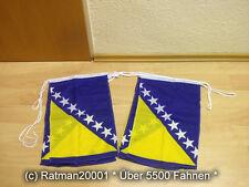 Fahnen Flagge Flaggenkette Bosnien Herzegovina 6 Meter Lang