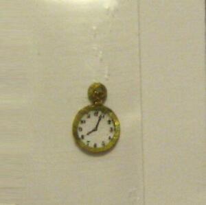 DOLLHOUSE Pocket Watch Very Tiny 4A Cats Paw Ornate Engraved Miniature