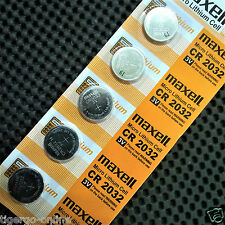 MAXELL - JAPAN | 3V LITHIUM MICRO BUTTON CELL - COIN BATTERY | CR2032 H - 5 PC