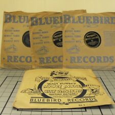 WALT DISNEY 78x3 set SILLY SYMPHONY SONGS RARE BLUEBIRD Sleeves