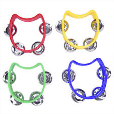 Hand Held Tambourine Metal Bell Plastic Percussion for KTV Party Kid Game Toy✔OI