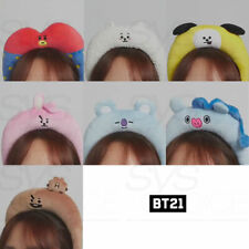 BT21 White headband children adult headband hair band new wash gargle headband