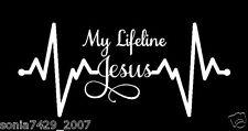 My Lifeline Jesus Decal Sticker - Christian God Religious Cute Car Truck Laptop