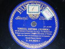 6 x 78 rpm RECORDS Parlophon STAATS-OPERA BERLIN Heroic MAX SCHILLINGS Beethoven
