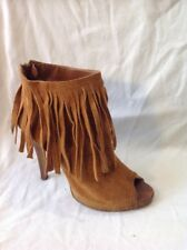 Office London Brown Ankle Suede Boots Size 4