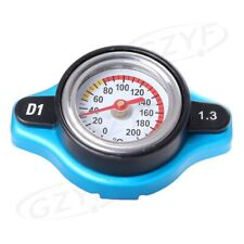 1.3Bar Car Radiator Cover Cap W/ Thermometer Water Temp Gauge Meter Universal