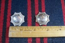 """Vtg PAIR Sterling Silver 1 1/4"""" Rope/Star Concho Western Headstall Bridle Belt"""