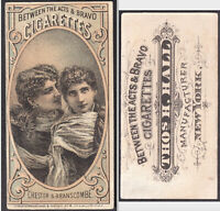 Edith Chester & Maude Branscombe 1880's Between the Acts Cigarettes N342 Tobacco