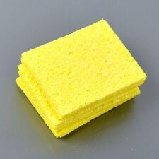 10Pcs Yellow Soldering Iron Welding Cleaning Sponge