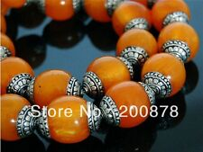 Wholesale 10 Nepal Big 20X18mm 925 Sterling Silver Repousse Beeswax Amber Beads