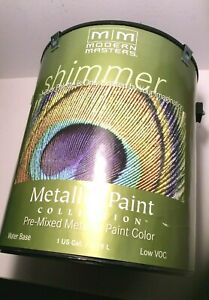 Modern Masters Metal Effects Pearl White Sheer Metallic Paint 1 gallon/3.78ltrs.