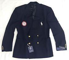 Ralph Lauren Men Limited Wool Olympic Blazer Sport Coat Jacket TEAM USA Navy 44L