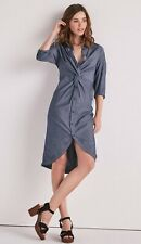 LUCKY BRAND CHAMBRAY TWIST MIDI DRESS,NWT,MSRP-$79.50,MEDIUM