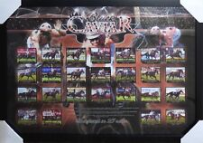 Horse Racing Black Caviar Undefeated in 25 Races - Poster Framed