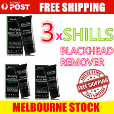 3x Face Mask SHILLS Nose Blackhead Acne Pore Deep Remover Cleansing Strip Black
