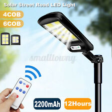 OCB Waterproof Solar LED Street Light Powered Road Lamp Motion Sensor Garden