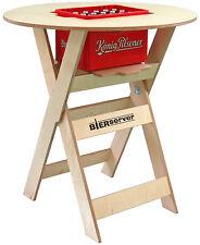Stehtisch Bierserver Partytisch mit Bierkasten-Fach klappbar Biertisch Birke