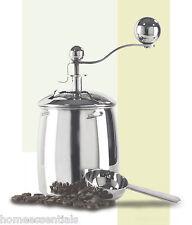 Grunwerg Stainless Steel Coffee Grinder With Scoop & Ceramic Grinding Mechanism