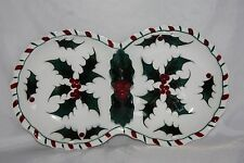 Lefton China #031 Double Dish With Ivy Middle Handle And Design Around Outside