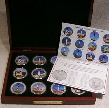 Colorized U.S. Silver Eagle Dollars - Lighthouses of America - Qty 12 One Ounce