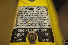 minibike mini bike decals wards sticker engine shut off
