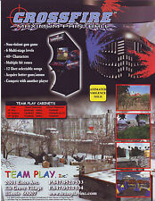 CROSSFIRE MAXIMUM PAINTBALL ORIGINAL NOS VIDEO ARCADE GAME FLYER TEAM PLAY 2003