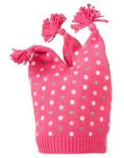 GYMBOREE BRAND NEW BABY PINK w/ WHITE DOTS POM POM SWEATER HAT 0-3 NWT